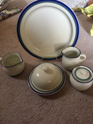 Pfaltzgraff Northwinds 5 piece Hostess Set. Made in USA for Sale in Platte City, MO