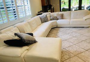 Modern white, high end leather sectional for Sale in Fort Lauderdale, FL