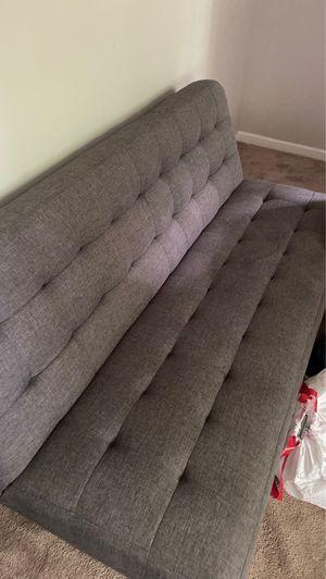 Grey futon for Sale in Lithia Springs, GA