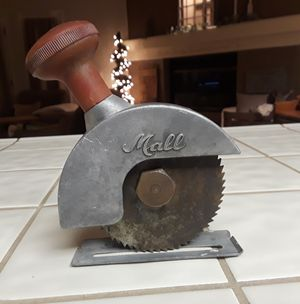 "VINTAGE ""MALL"" DRILL CIRCULAR SAW ATTACHMENT . LITTLE SURFACE RUST ON BLADE AND DEPTH ADJUSTMENT BRACKET, IS IN VERY GOOD CONDITION. asking $45.00 for Sale in Bakersfield, CA"