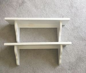 """2 Wall shelves wood with white paint 23"""" long for Sale in Batsto, NJ"""