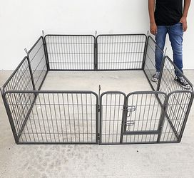 "(New In Box) $70 Heavy Duty 24"" Tall x 32"" Wide x 8-Panel Pet Playpen Dog Crate Kennel Exercise Cage Fence Play Pen for Sale in Whittier,  CA"