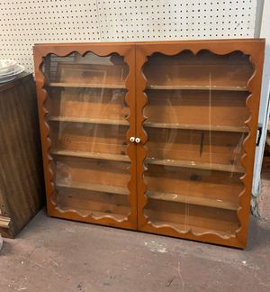 Antique Vintage Wall Display Cabinet for Sale in West Covina, CA
