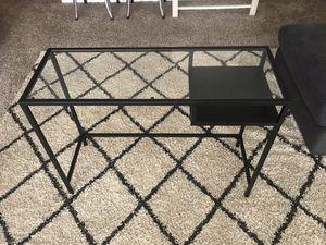 Glass top/black steel hardware desk for Sale in Alexandria, VA