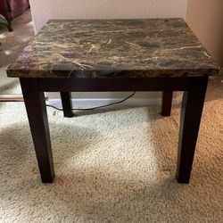 Granite/wood End Table Or Small Coffee Table for Sale in Beaverton,  OR