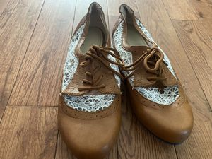Brown/camel and white crochet shoes for Sale in Dayton, TN