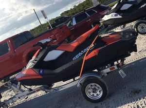 Mint condition 2016 Seadoo Spark with TriTon aluminum trailer. for Sale in Tampa, FL
