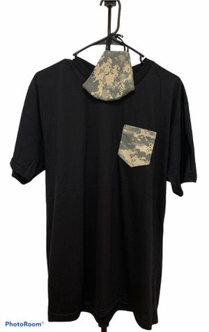 Medium Unisex Camo Shirt and Matching Face Mask for Sale in Orlando, FL