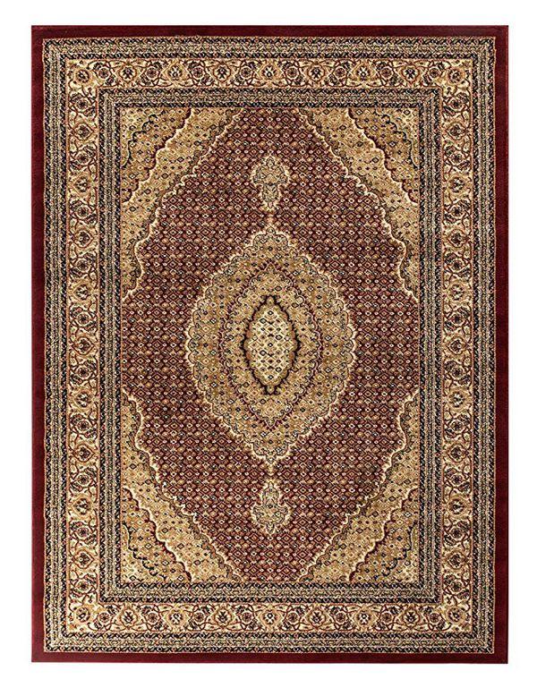 New Tabriz rug size 5x7.3 red burgundy color carpet