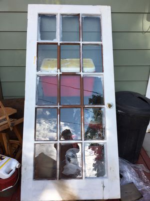 Glass panel door 36x78 in good condition and read below for a SURPRISE!!! for Sale in Lancaster, OH