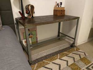 Industrial metal table with casters for Sale in West Hollywood, CA