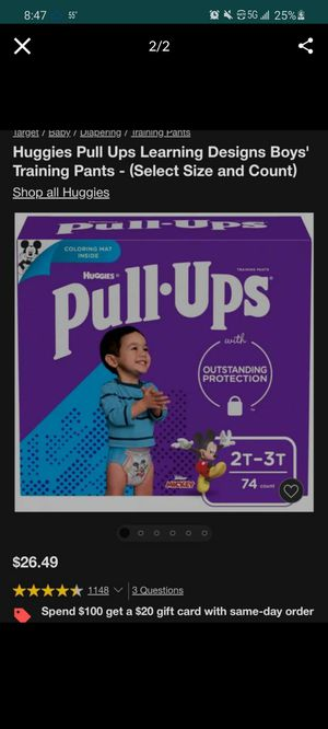 Diapers/ pull•ups for Sale in Fresno, CA