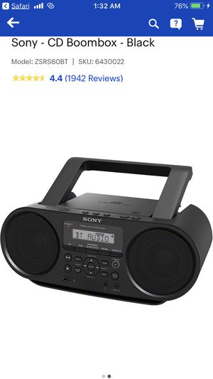 Sony Bluetooth Boom Box Radio for Sale in Virginia Beach, VA