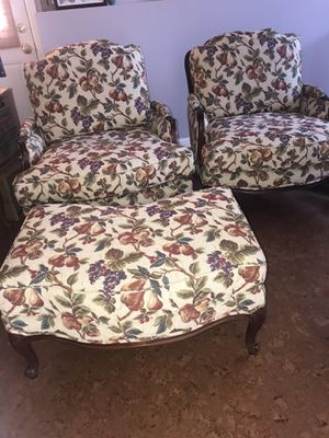 Ethan Allen chairs and ottoman for Sale in Half Moon Bay, CA
