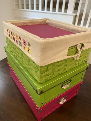 Storage Bin Basket Box Set Closet Home Organization for Sale in Irvine, CA