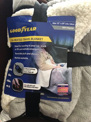 Goodyear Plug in Travel Blanket for Sale in Akron, OH