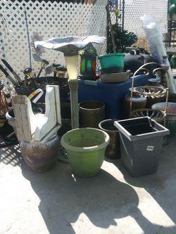 Plant Pots And Birdbaths for Sale in Naches,  WA