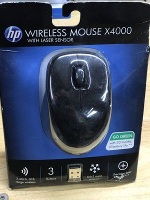 HP - Wireless Laser computer laptop Mouse - Black X4000 for Sale in Houston, TX