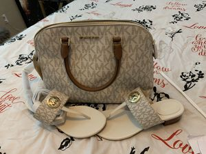New Authentic Michael Kors purse/ sandals for Sale in Aurora, CO