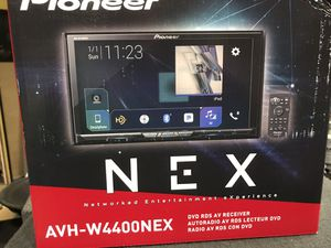 Car audio sale. Pioneer 4400nex great unit apple car play android auto face off Bluetooth. Bluetooth audio usb aux CD player. Fully loaded for Sale in Ontario, CA