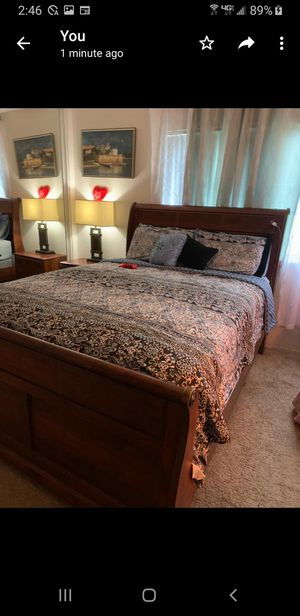 Entire Bedroom set plus mattress with cover for Sale in Upland, CA
