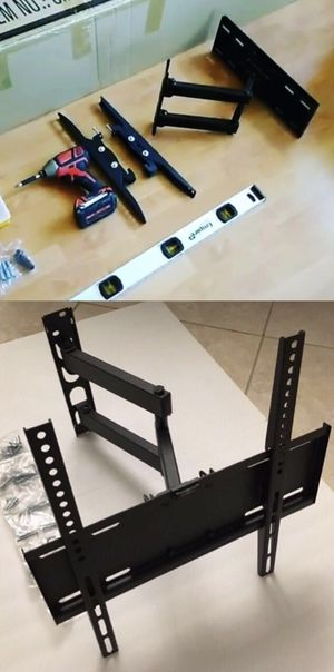 New in box Universal fits 22 to 55 inch tv swivel tilt full motion tv television wall mount bracket single arm for Sale in El Monte, CA