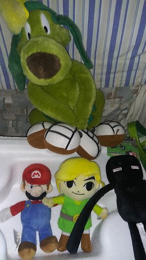 Vintage plushies Looney tunes super mario zelda toys and collectibles for Sale in Bell, CA