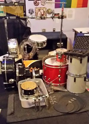 Gibraltar Rack System with drums, mics, silencers & many extras - cash + trade for Sale in Royal Oak, MI