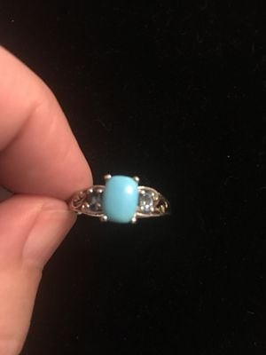 Genuine turquoise & sterling silver ring size 7 for Sale in West Richland, WA