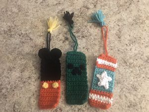 Customs Bookmarks, face-covers, plushies, all made of crochet for Sale in Tucson, AZ