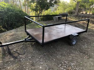 """4x8 trailer 3/4"""" plywood, sturdy, ready for work landscape, tables and chairs, motorcycle hauling etc... for Sale in San Dimas, CA"""