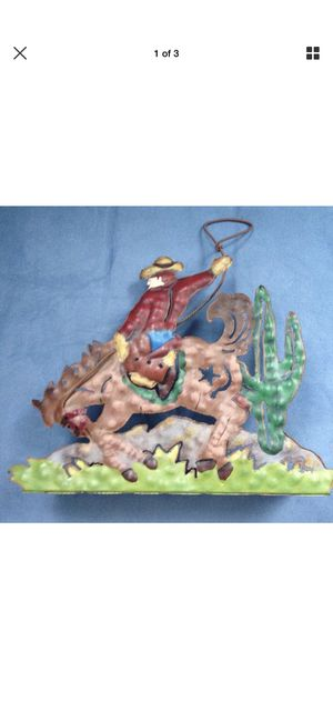 Southwestern Rodeo Cowboy Candleholder New for Sale in Saginaw, TX