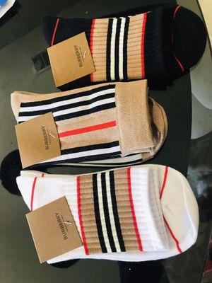 Original burberry socks for Sale in Victorville, CA
