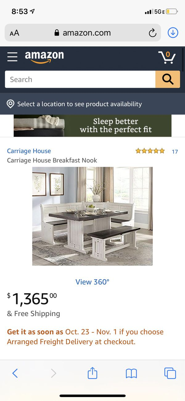 Carriage House Breakfast Nook Set