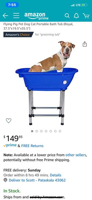 BRAND NEW DOG 🐶 OR CAT 🐈 BATHING OR GROOMING TUB. for Sale in Granville, OH