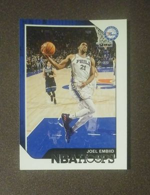 2018-19 Panini Joel Embiid Philadelphia 76ers #166 NBA Hoops Basketball Card Collectible Sports for Sale in Salem, OH