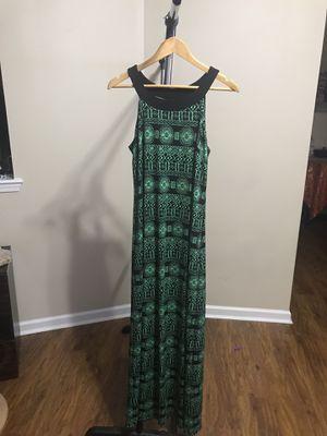 Green Dress, long, size L for Sale in Douglasville, GA
