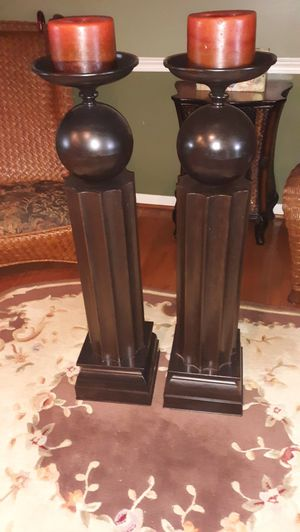 2 Tall aluminium candle holders for Sale in Martinsburg, WV