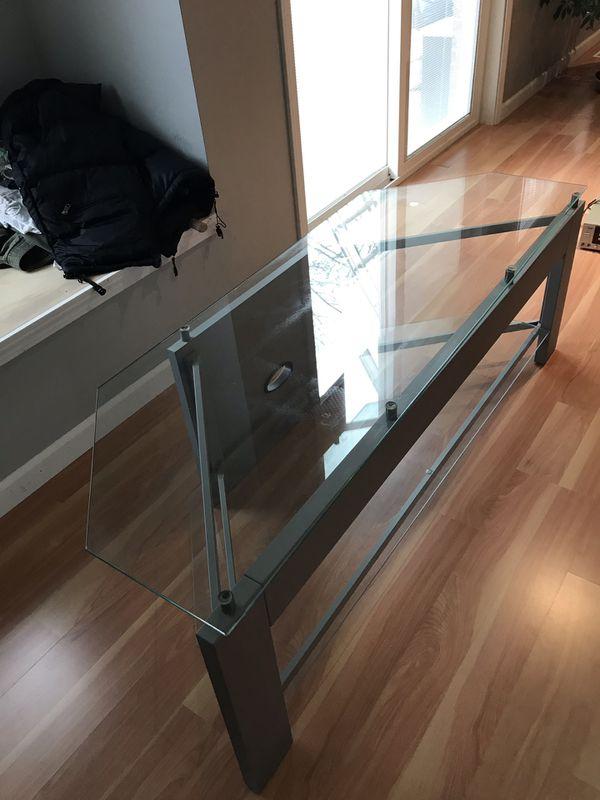 6 Sided Corner TV Stand (Glass)