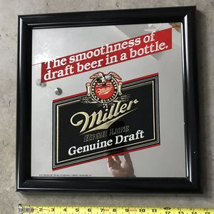 Vintage Miller Genuine Draft MGD Beer Brewing Mirror Sign for Sale in Lodi, NJ