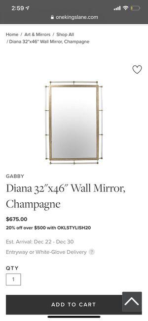 "GABBY Diana 32""x46"" Wall Mirror, Champagne for Sale in Falls Church, VA"