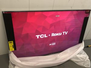QLED TCL 55 INCH 4K ROKU SMART TV! Comes with legs and remote. 3 month guarantee. Comes with legs and remote for Sale in Phoenix, AZ
