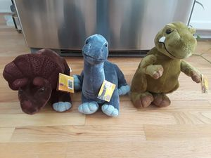 Dinosaur stuffed animals for Sale in Roselle, IL