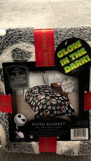 Nightmare before Christmas glow in the dark blanket for Sale in La Mirada, CA