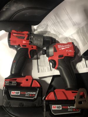 Milwaukee M18 Fuel Hammer Drill/Impact Set for Sale in Salt Lake City, UT