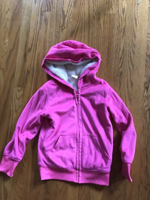 Girls kids jacket size 6 small childs pink hoodie for Sale in Monrovia, CA