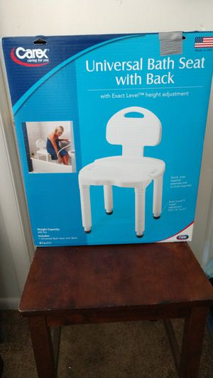 New! Carex universal bath seat with back for Sale in Middletown, PA