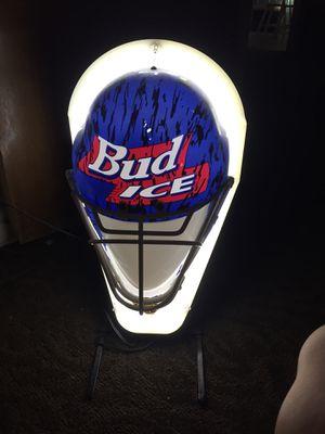 BUD ICE HELMET MAN CAVE NEON LIGHT for Sale in Dallas, TX