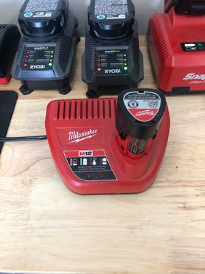 Charger for Milwaukee M12 Lithium-Ion Power Tool Batteries for Sale in Fontana, CA