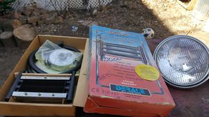 Old school motorcycle parts cooler and headlight for Sale in Passaic, NJ
